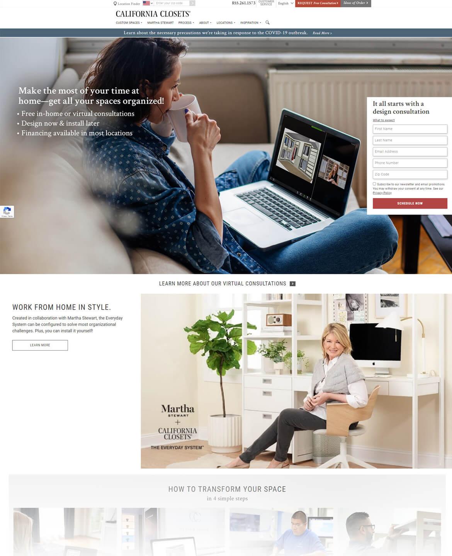 Seo Google Ads And Website Design For California Closets Yunik Digital Marketing Is A Web Design Agency In Fort Lauderdale Florida