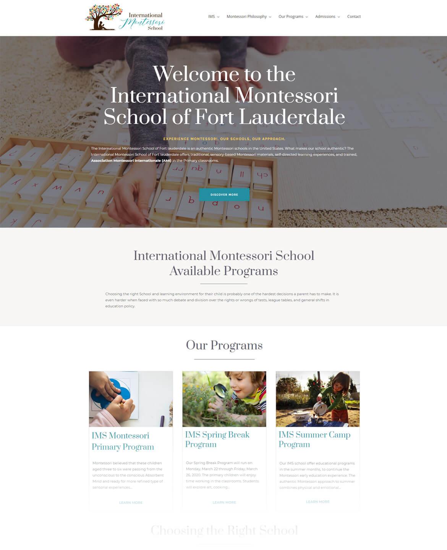 Seo And Website Design For International Montessori School Yunik Digital Marketing Is A Web Design Agency In Fort Lauderdale Florida